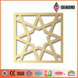 Ideabond CNC Spaving Designs sur panneau composite en aluminium Vente chaude dans les entreprises de construction du fournisseur chinois
