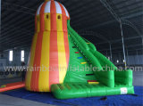 Inflatable variopinto gigante Helter Skelter Bouncer Slide, Cheap Inflatable Dry Slide da vendere