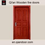 Porta de incêndio interior de madeira da pele do Teak