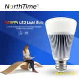 Bulbo blanco teledirigido sin hilos 8W de RGB+Cool LED