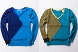 Maglione dei capitali di colore di contrasto del V-Collo dei bambini