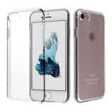 Couverture protectrice de caisse de TPU de peau molle flexible claire mince ultra mince de gel pour l'iPhone 7 d'Apple