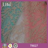 Material escovado poliéster da roupa da tela do laço