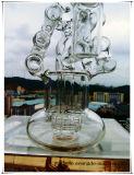 [هب-ك49] [رسكلر] [برك] مزدوجة حلزونيّ سلّم شكل زجاجيّة يدخّن [وتر بيب]