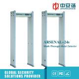 Détecteur de métaux de passage arqué de zones de la sécurité dans les aéroports 18 avec le double commutateur infrarouge