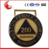 Fertigen neuer Entwurf 2016 Metall gravierte Medaille kundenspezifisch an