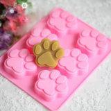 Симпатичная сладостная многофункциональная прессформа торта силикона формы лапки собаки