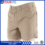 Short bretelles en cuir à rayures en coton Khaki à bas prix (YGK116)