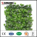 Hierba artificial falsa fácilmente ensamblada del seto de la planta de la decoración de la pared al aire libre