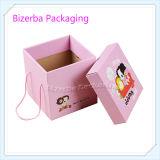 Caixas onduladas de papel de dobramento coloridas relativas à promoção