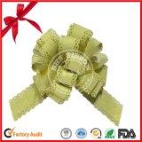 Producto verde de las flores del arqueamiento y de la cinta del tirón del POM-POM para la decoración de la Navidad