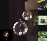 Calor mayor colgante de cristal resistente a vela votiva titular