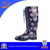 Ботинки нового типа женщин резиновый с шнурком