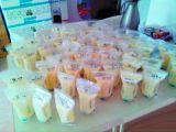 7oz que Pre-Sterilizing sacos do armazenamento do leite materno com seu tipo