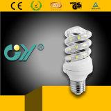Lampe spiralée économiseuse d'énergie 7W de la qualité DEL