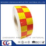 """2 """"Cinta de PVC reflectante de seguridad X150 'Advertencia Adhesivo cuadrícula Conspicuity modelo de marcado pegatina"""
