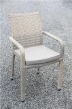 Таблица и стул напольного отдыха ротанга сада Wicker обедая