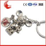 Tipo metal feito sob encomenda do metal da liga da venda por atacado que gira Keychain