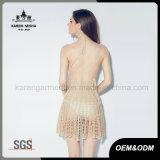 Ladies Party Sexy Beach Wear Halter Neck Crochet Dress