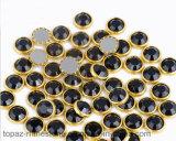 Het in het groot Bergkristal van Hotfix van de Rand van Strass van het Kristal Gouden voor de Kunst van de Spijker (HF-SS20 5mm gekleurd)
