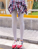 Koreanische Frauen-Form-Plaid-Hemd-Fußleisten-Großhandelsgamaschen