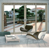 Porte coulissante vitrée en aluminium en aluminium (FT-D80)