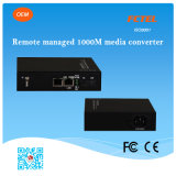 遠隔Managed 10/100/1000m Sm/mm Media Converter、Fiber Optic Media Converter Price、RJ45 Media ConverterへのFiber Optic