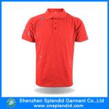 Camisa de polo vermelha do bordado do algodão da alta qualidade dos homens feitos sob encomenda