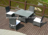 خارجيّة حديقة أثاث لازم [ب] [رتّن] كرسي تثبيت و [رتّن] طاولة