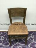 Cadeira luxuosa do restaurante da madeira contínua com o assento estofado (FOH-BCC32)