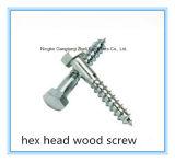 (Acero de carbón del acero inoxidable) tornillo de madera principal plano ranurado de la cacerola cruzada de Philip