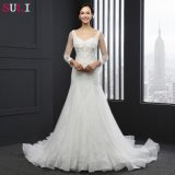 O-Neck Long Sleeve Mermaid Wedding Dress (SL-035)