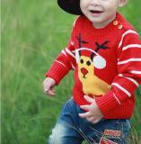 Herbst-runder Stutzen-Pullover-lange Hülsen-Baby-Strickjacke