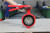 Doppeltes Shaft Demco Industrial Butterfly Valve in Red Color