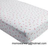 Hoja de base hecha punto el 100% de la hoja de pesebre del bebé de la impresión del algodón