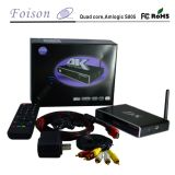 Quad Core Foison TV Box avec support H. 265 et 4k