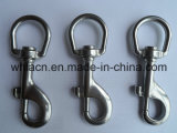 Крюки кнопки шарнирного соединения собачего крюка металла Carabiner отливки точности