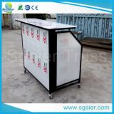 Board acrilico Portable Bar con Wheels e Ice Bins