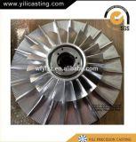 La presión inferior de la pieza locomotora del turbocompresor del motor diesel a presión la rueda del compresor de la fundición