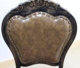 木製の一見の革が付いている贅沢な食堂の家具のアルミニウム椅子