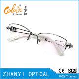 Monocolo di titanio Semi-Senza orlo Eyewear (T453-EW) del blocco per grafici di vetro ottici di retro stile