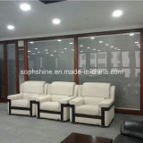 Büro-Partition mit internen motorisierten Aluminium-Vorhängen zwischen Isolierglas