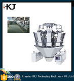 Empaquetadora vertical del alimento hinchado automático lleno con 10/14 pesador de las pistas