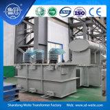 Capacité 2000---6300kVA, transformateur d'alimentation immergé dans l'huile triphasé de régulation de tension du sur-chargement 33kv avec le groupe Yd11 de vecteur