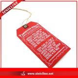 Красное Canvas Hangtags для Top Brand Apparel