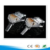 RJ45 8p8c de Plastic Mannelijke Stoppen van uitstekende kwaliteit van het Kristal van het Netwerk van de Schakelaar van de Kabel van de Telefoon Hoofd Modulaire