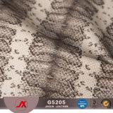 El nuevo cuero del diseño PVC/PU de la serpiente para el bolso, ropa, carpeta, correa, zapatos, adorna el material del bolso de la piel de la avestruz en rodillo