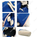 Moda Laides algodón de las mujeres de la lona de la playa de asas del bolso de mano