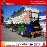 Type d'essence diesel d'essieux du double 2 à benne basculante de camion remorque lourde semi avec la remorque de tombereau d'avant de cylindre hydraulique