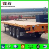 De tri Flatbed Aanhangwagen van de As 40ton 40FT